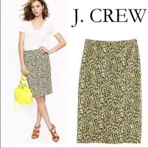 J Crew No. 2 Long Pencil Multicolor Skirt Size 2